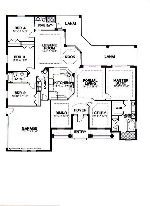 Creole Hall Floor Plan