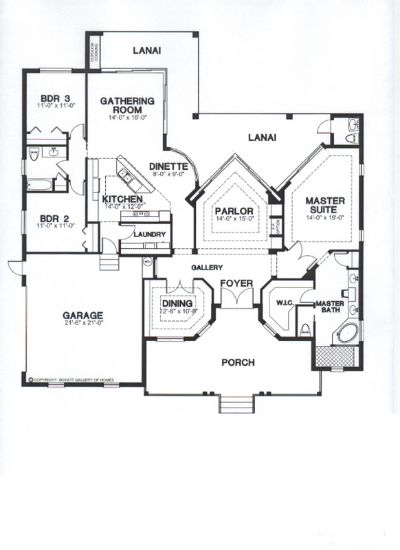 St. Augustine Floor Plan